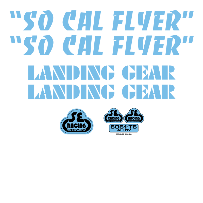 So Cal Flyer Decal Set