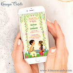 Cute Doodle Wedding E-Card - Iyengar Wedding