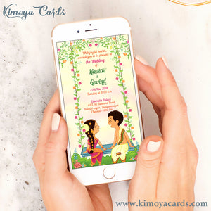 Cute Doodle Wedding E-Card - Iyer Wedding