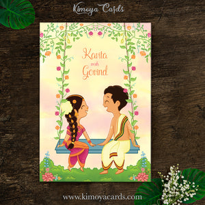 Cute Doodle Wedding Card - Iyer Wedding