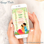 Cute Doodle Wedding E-Card - North Indian Wedding