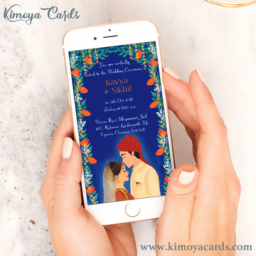 Dreamy North Indian Wedding E-Card