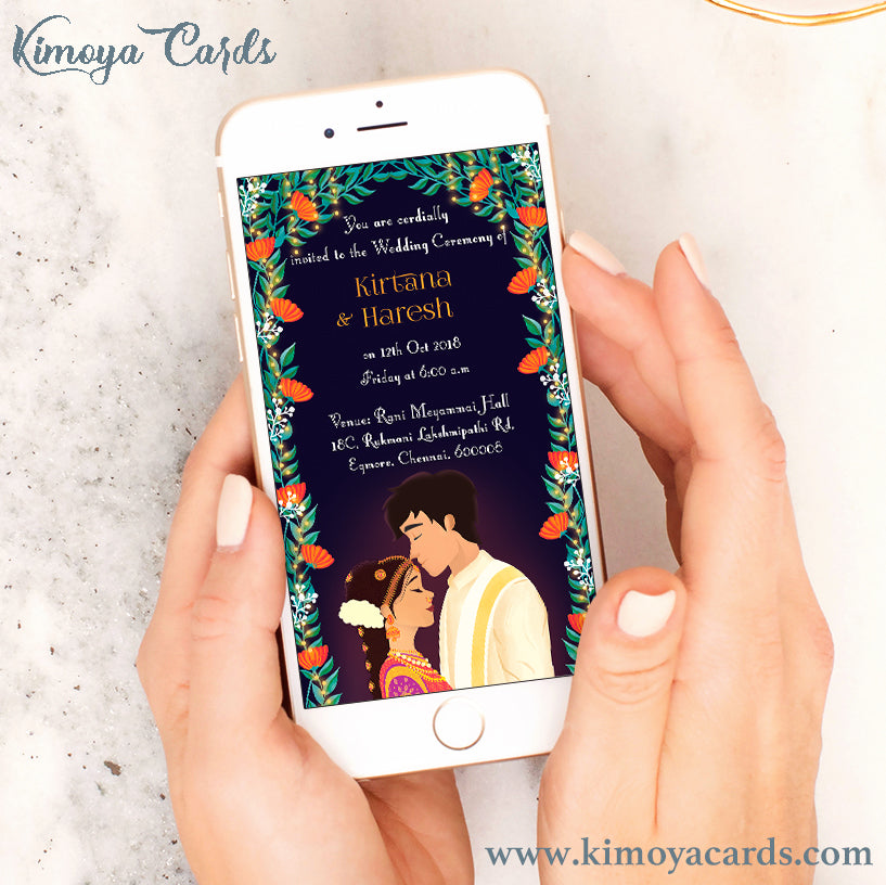 Dreamy South-Indian Wedding E-Card