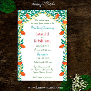 Dreamy Tamil Brahmin Wedding Card - Iyengar Wedding
