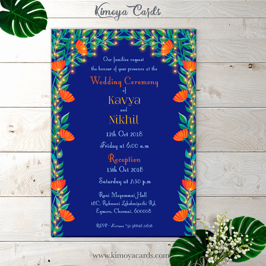 Dreamy North Indian Wedding Card