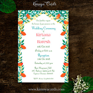 Dreamy South-Indian Wedding Card