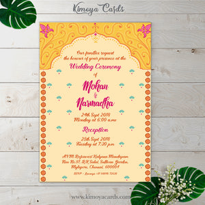 Floral Mandap Decor - Wedding Invite