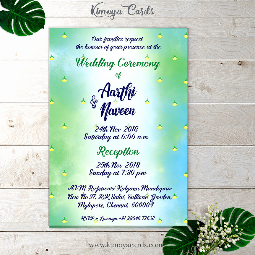 Anime style Wedding Invite - Tamil Brahmin Wedding