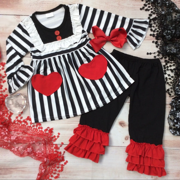 Boutique Girls 2pc Queen of Hearts