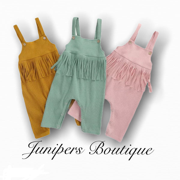 Boutique Baby Girls Ribbed Romper