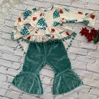 Boutique Girls 2pc Christmas Outfit
