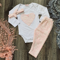Boutique Baby Lace Heart Outfit