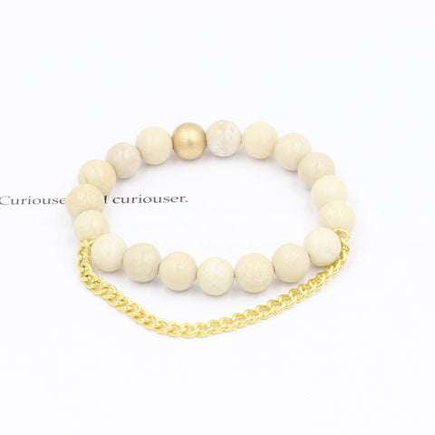 Children's Riverstone Bracelet with Chain