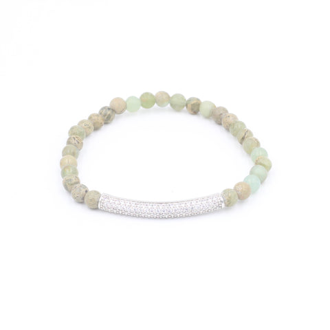 Aqua Terra Jasper Bracelet with Pave Bar