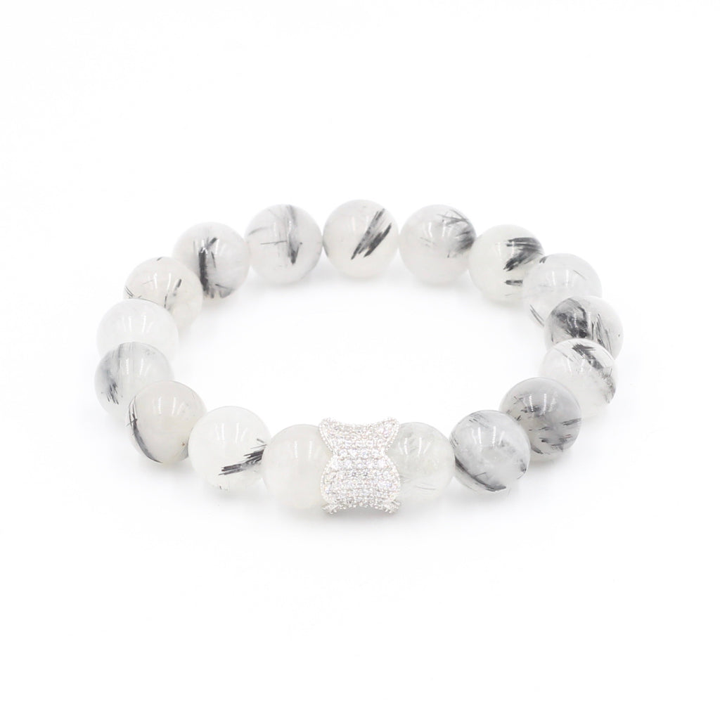 Rutilated Quartz Bracelet with Tulip Pave Close