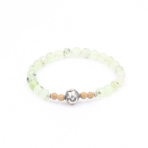 Prehnite Bracelet with Star & Moon