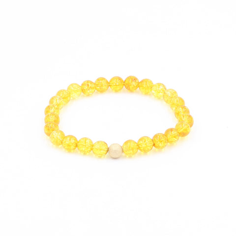 Citrine Bracelet with 14 kt Gold Stardust