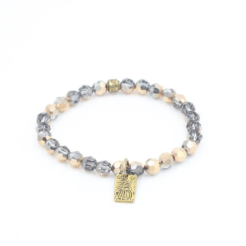 Rose Swarovski Bracelet with Money Charm