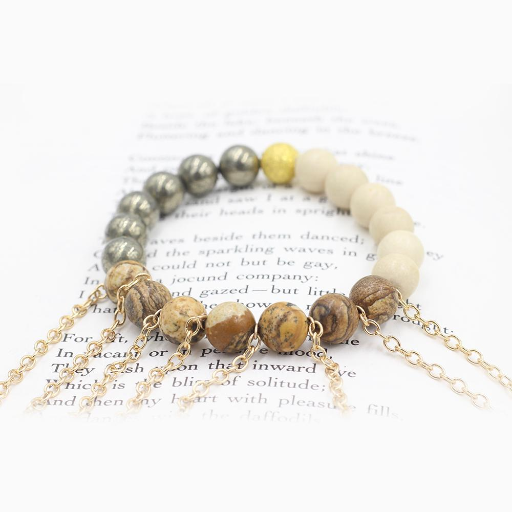 Susan Balaban Designed Healing Bracelet - This jasper and pyrite healing yoga bracelet is for moving forward, action, courage.