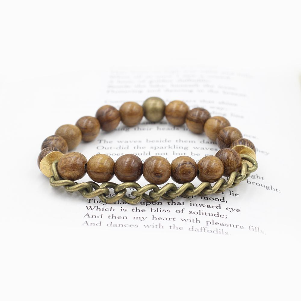 Susan Balaban Designed Healing Bracelet - THis wood healing yoga bracelet is for strength, commitment.