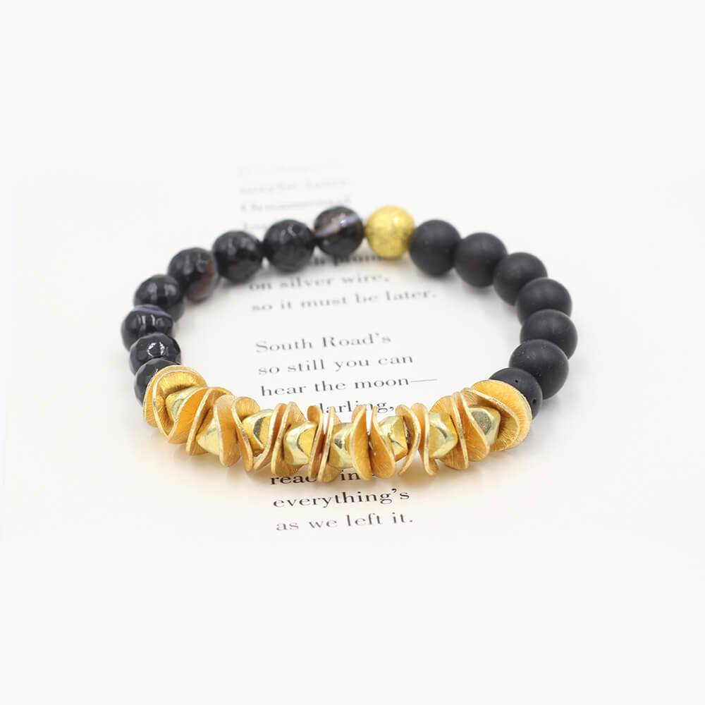 Susan Balaban Designed Healing Bracelet - This black bracelet with matte agate and tourmaline for lifting spirits, giving purpose and meaning.