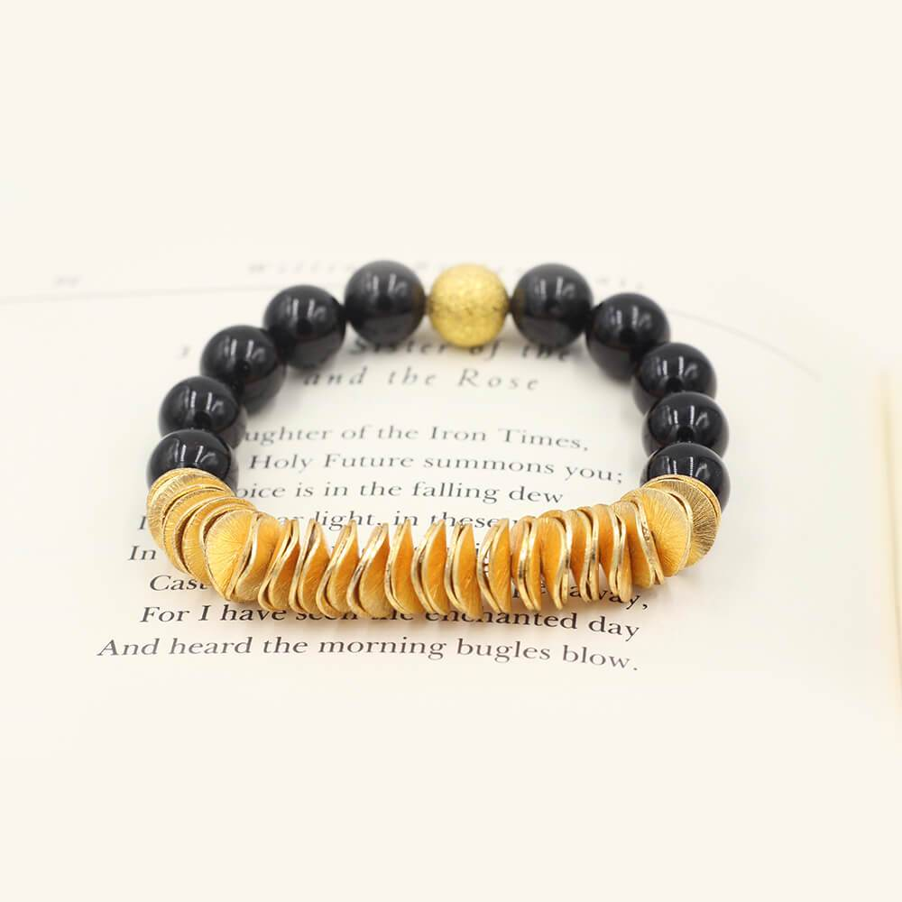 Susan Balaban Designed Healing Bracelet - This black healing yoga bracelet is made of tourmaline for protection and clarity.