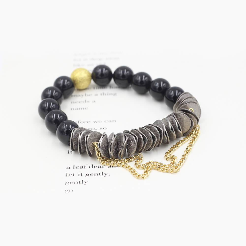 Susan Balaban Designed Healing Bracelet - This black healing yoga bracelet is made of black tourmaline for protection.
