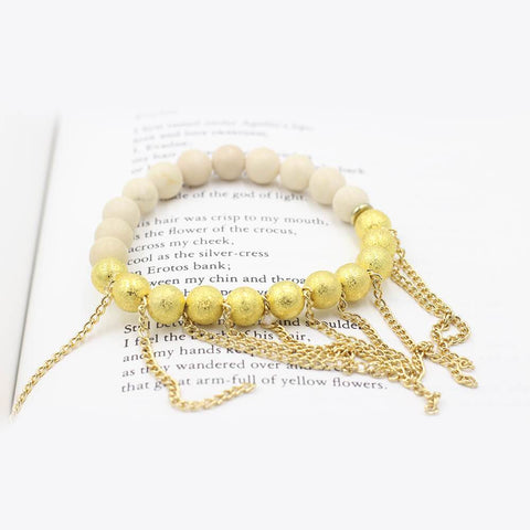 Susan Balaban Designed Healing Bracelet - This 14 kt gold stardust healing yoga bracelet is for shining and success.