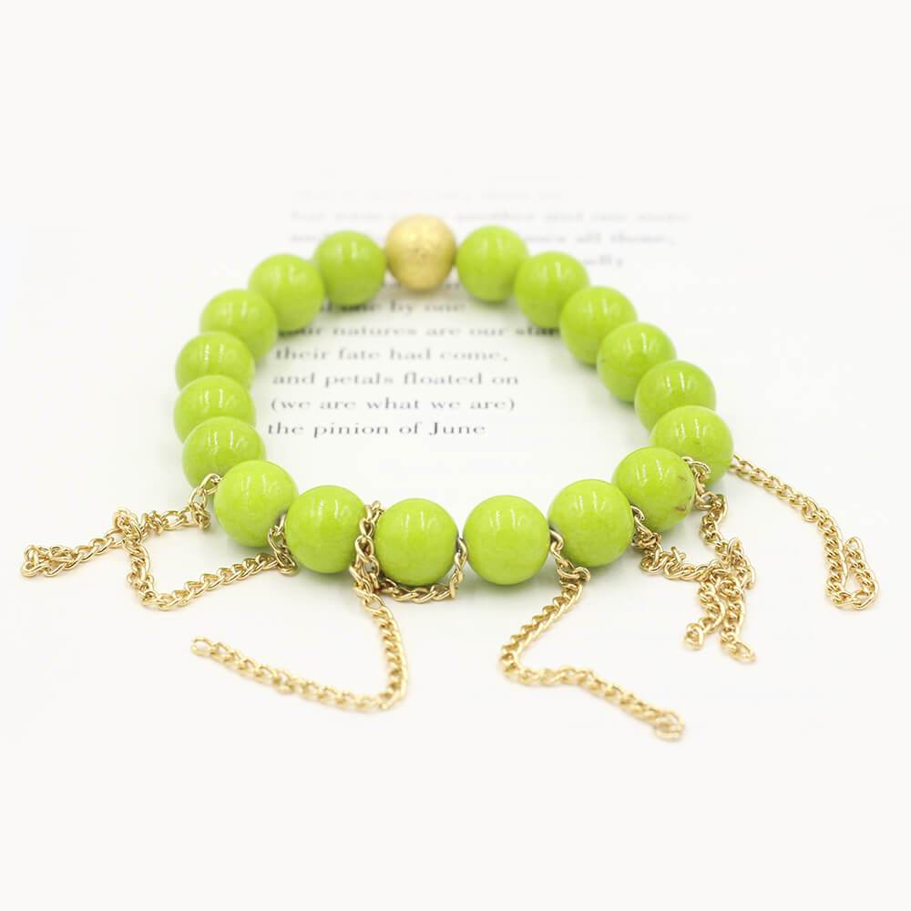 Susan Balaban Designed Healing Bracelet - This green magnesite healing yoga bracelet for abundance, wealth, good luck.