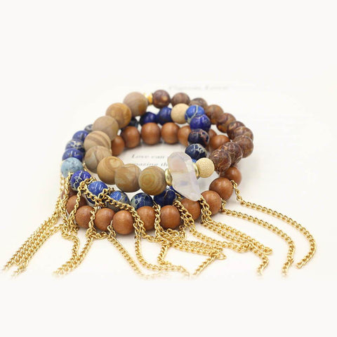 Susan Balaban Designed Healing Bracelet - These blue healing yoga bracelets for taking chances, reaching beyond our comofort, trust