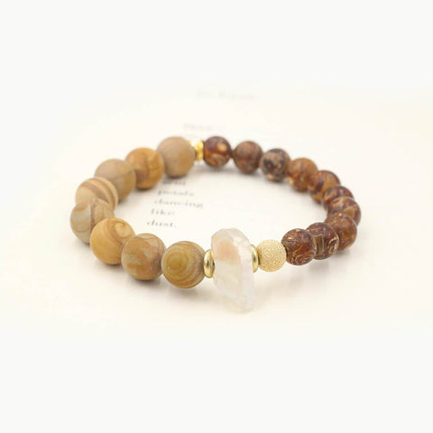 Susan Balaban Designed Healing Bracelet - This tibetan agate bracelet with crystal for seeing potential and what could be