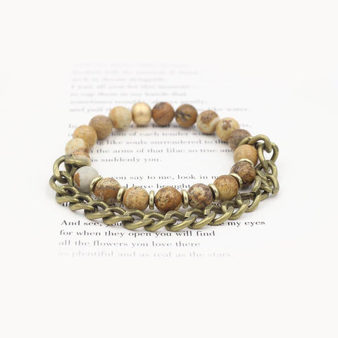 Susan Balaban Designed Healing Bracelet - This leopard jasper healing yoga bracelet for setting boundaries and honesty.