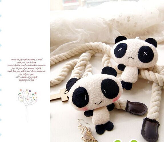Super Cute 2Models - Lover Panda 7*6CM Plush Stuffed TOY DOLL-HappyPandaBags