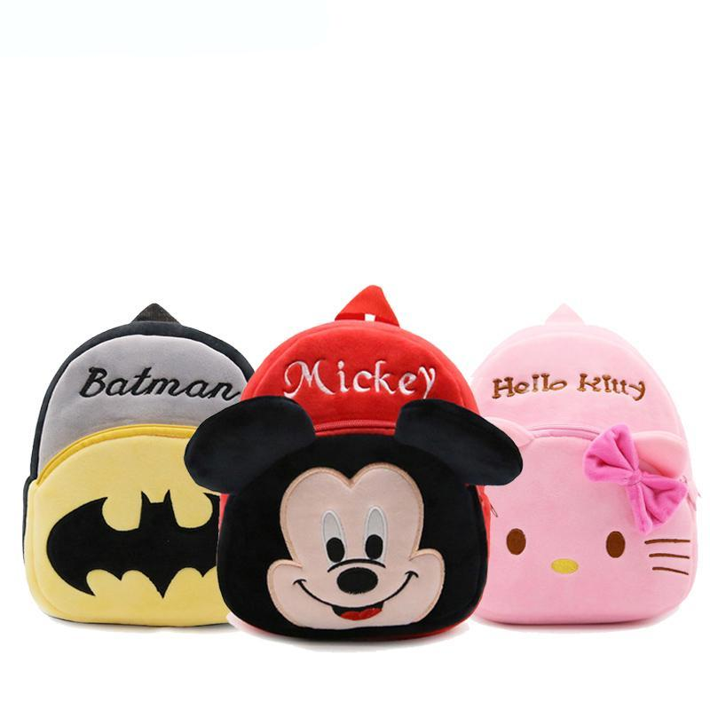 Cartoon Plush Kids School Bags-HappyPandaBags