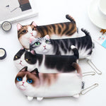 New Cute Cat Face Printed Zipper Coin Purses-HappyPandaBags