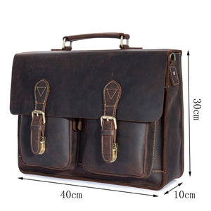 Top Grade Leather Briefcase-HappyPandaBags