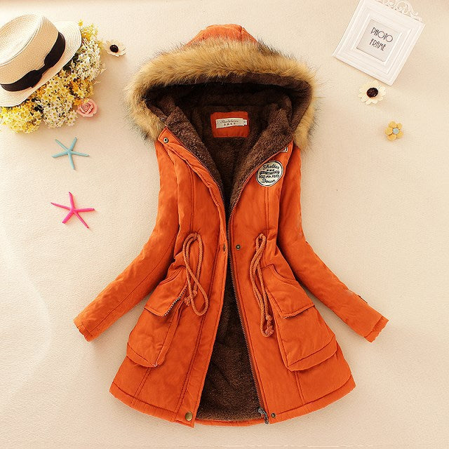 2018 New Parkas Female Women Winter Coat-HappyPandaBags