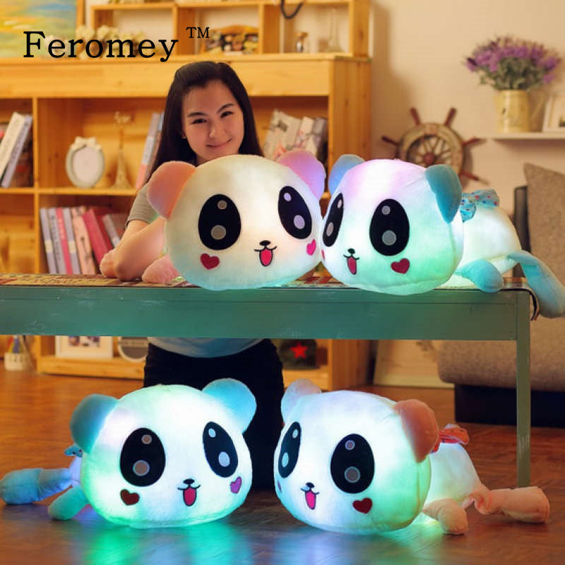 Colorful Light Up Panda Plush Doll-HappyPandaBags