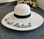 letter embroidery sun hat-HappyPandaBags