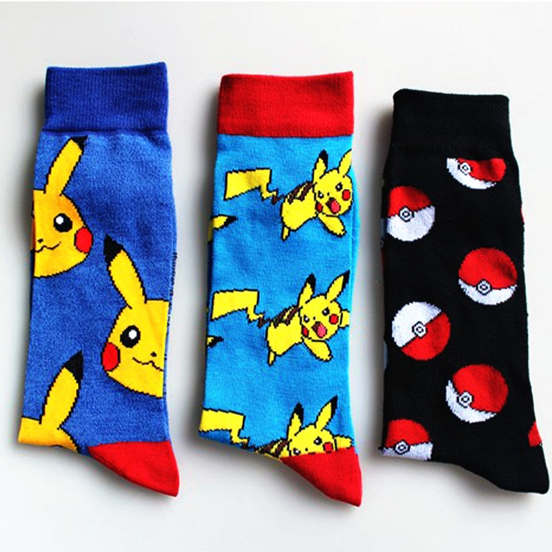 New Fashion Pokemon Ball Unisex Socks