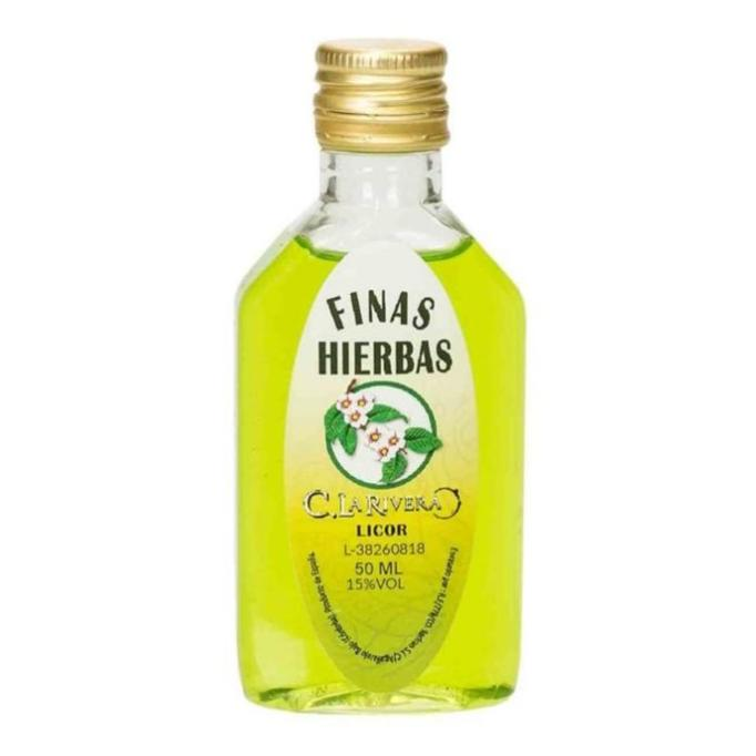 Botellita Licor de hierbas plástico 50ml