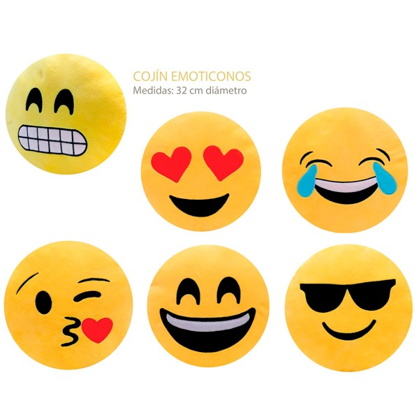 LOTE 10 COJINES EMOTICONOS como detalle original - second-pair