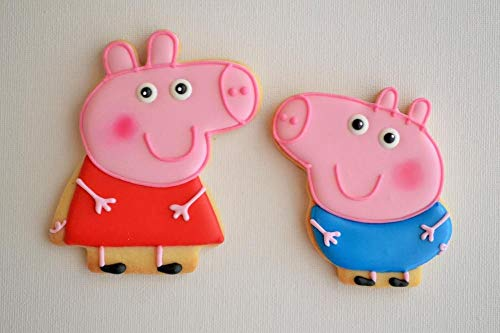 2 Moldes para Galletas,Fondant,Fruta,pastas de Peppa+George Pig+Regalo BOLSITAS para Galletas. - second-pair