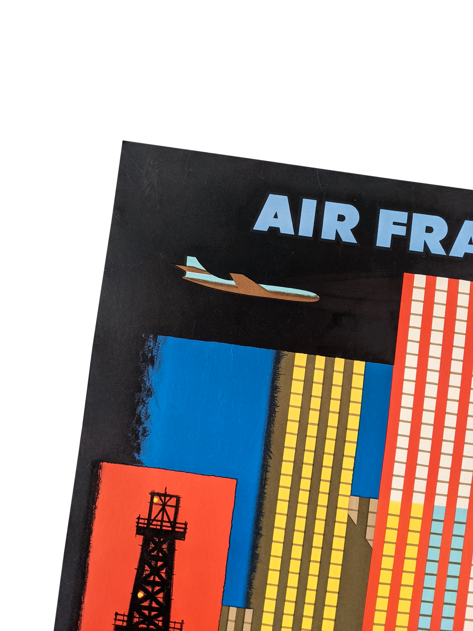 Original Air France Poster Amerique Du Nord 1958, by Nathan Garamond