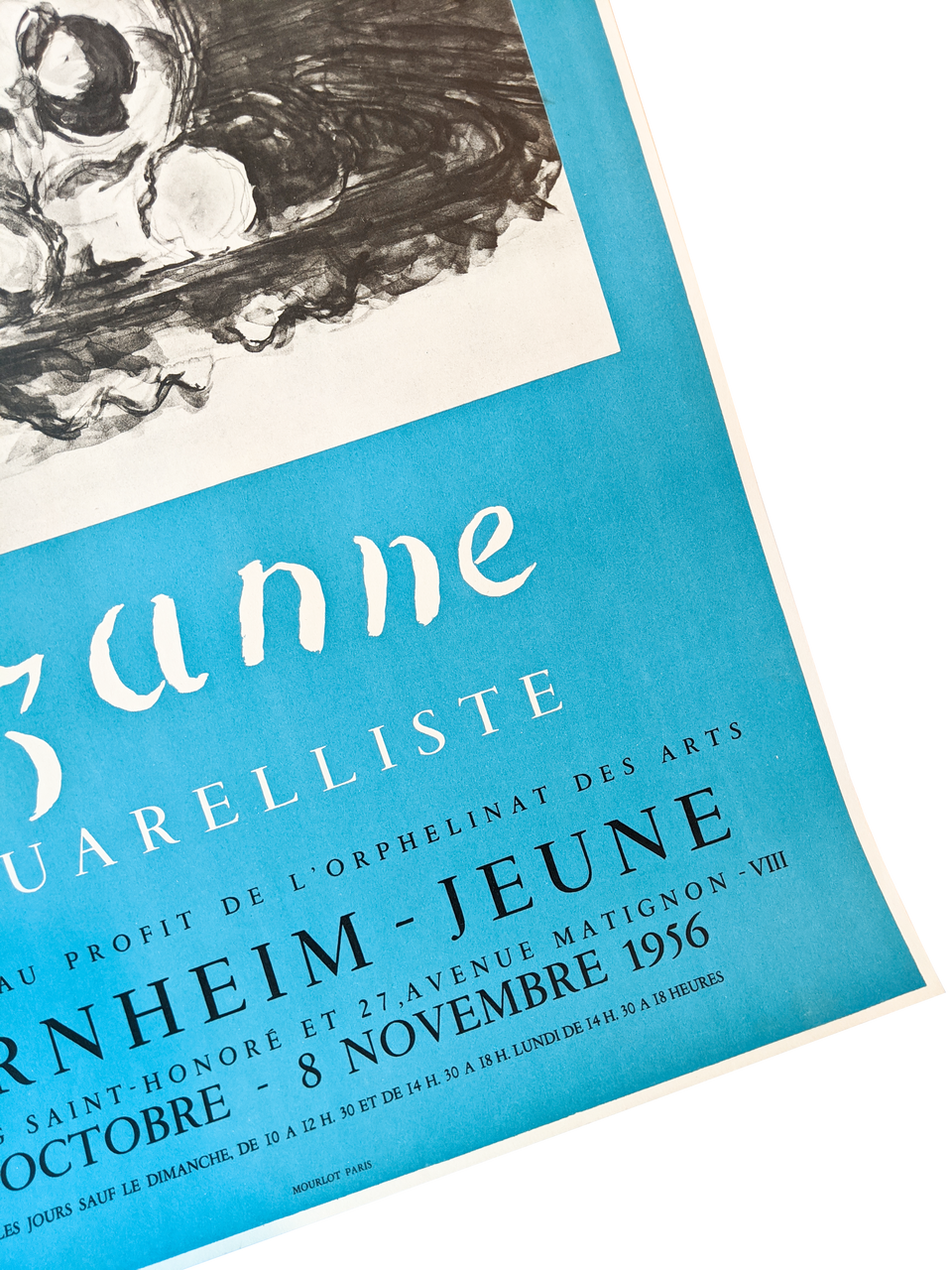 Original Exhibition Poster By Cezanne - Aquarelliste 1956