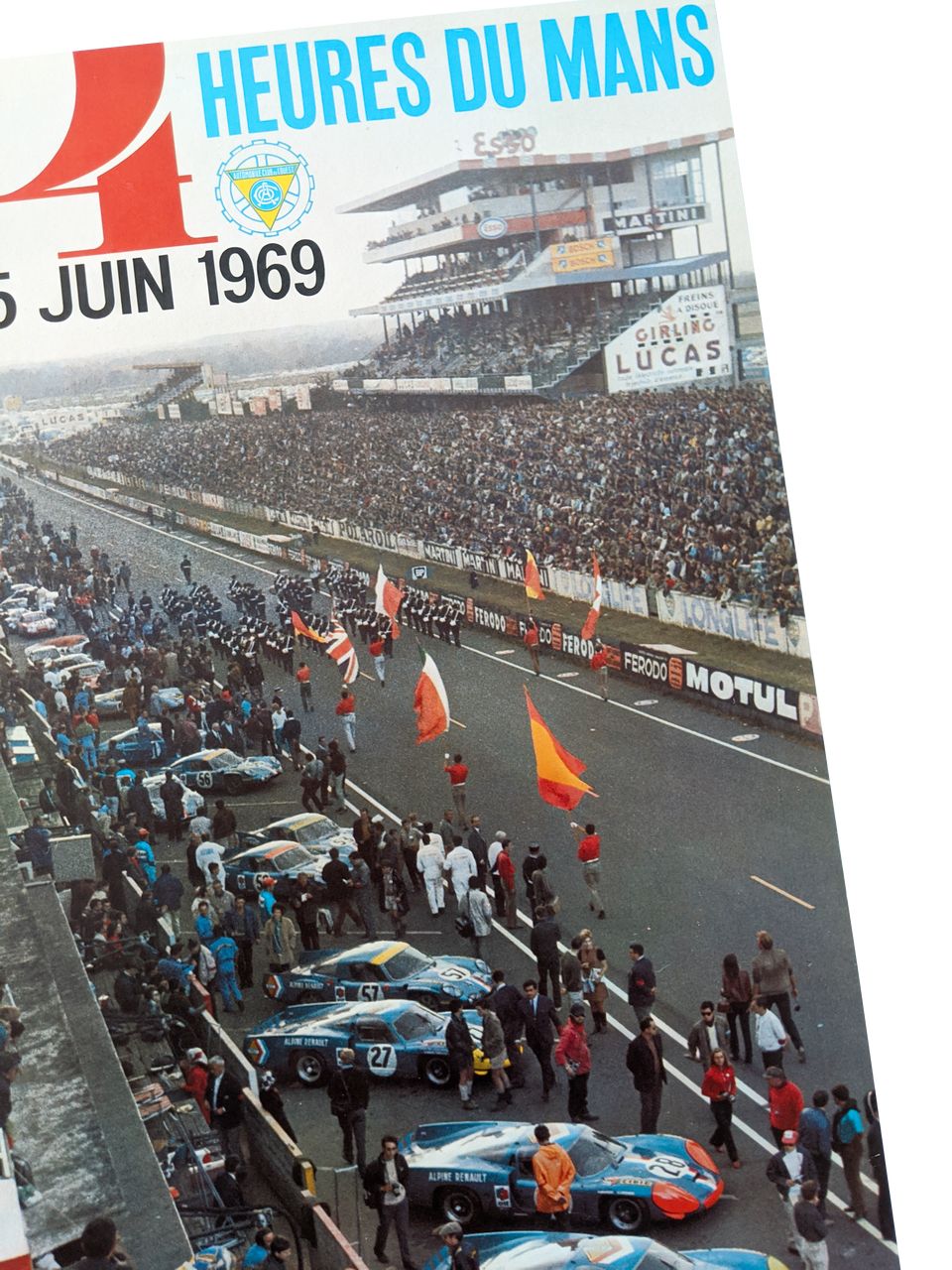 Original Poster Le Mans 24 Hours Race 1969