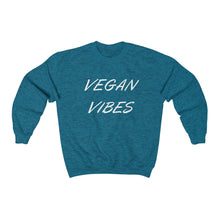 "Load image into Gallery viewer, ""Vegan Vibes"" Sweatshirt - White Design"