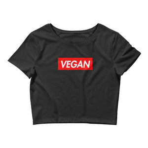 """Supremely Vegan"" Crop-Top"