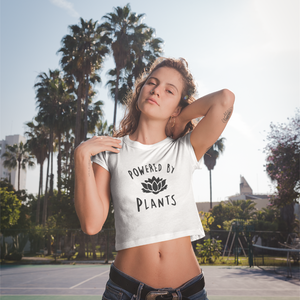 """Powered by Plants"" Crop-Top"