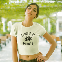 "Load image into Gallery viewer, ""Powered by Plants"" Crop-Top"